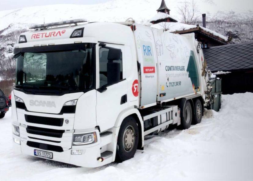 Bilde av søppelbil